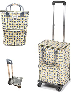 Shopping Trolley - Reusable Insulated Shopping Bag with wheels for Groceries & Food Delivery, Eco Friendly Heavy Duty & Sturdy Zippered. Good for BBQ/Outdoors/Party/Picnic/Shopping/Supermarket.