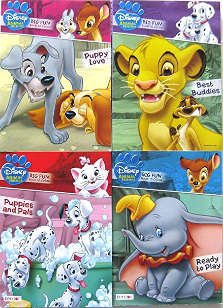 - Amazon.com: Disney Animal Friends Coloring Book Multipack (Assorted,  Designs Vary): Toys & Games