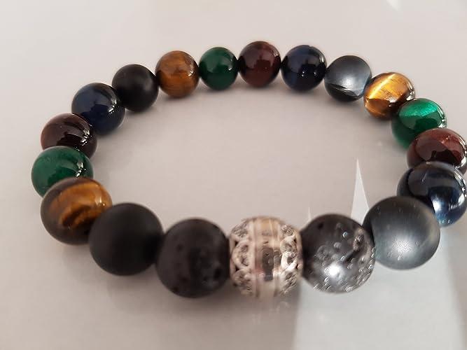 Bracelet homme pierre verte