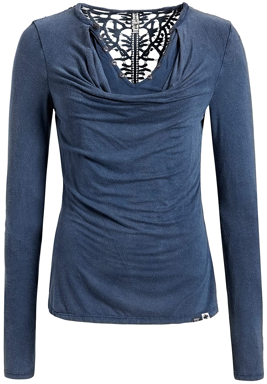 Khujo Damen Langarmshirt blau M 1046LS181