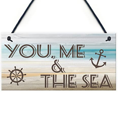 Amazon.com: ¿Me & Mar Náutico Marino placa para colgar de ...
