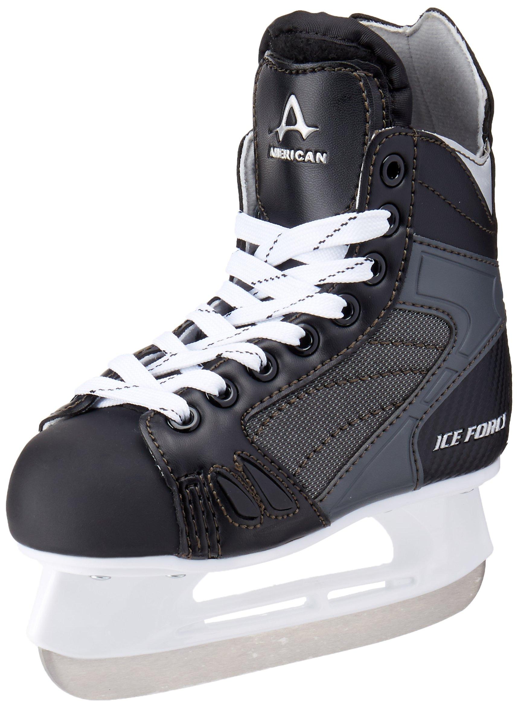 American Athletic Shoe Boy's Ice Force Hockey Skates, Black, 9 Y