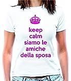 """T-shirt Addio al nubilato """"Keep calm siamo le amiche della sposa"""" - Maglia donna"""