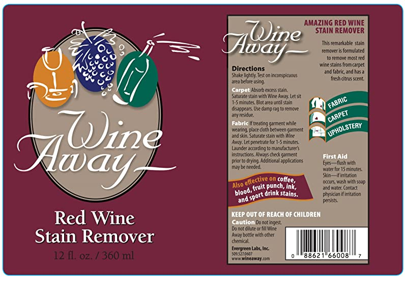 wine away red wine stain remover wine 12ounces amazonca home u0026 kitchen