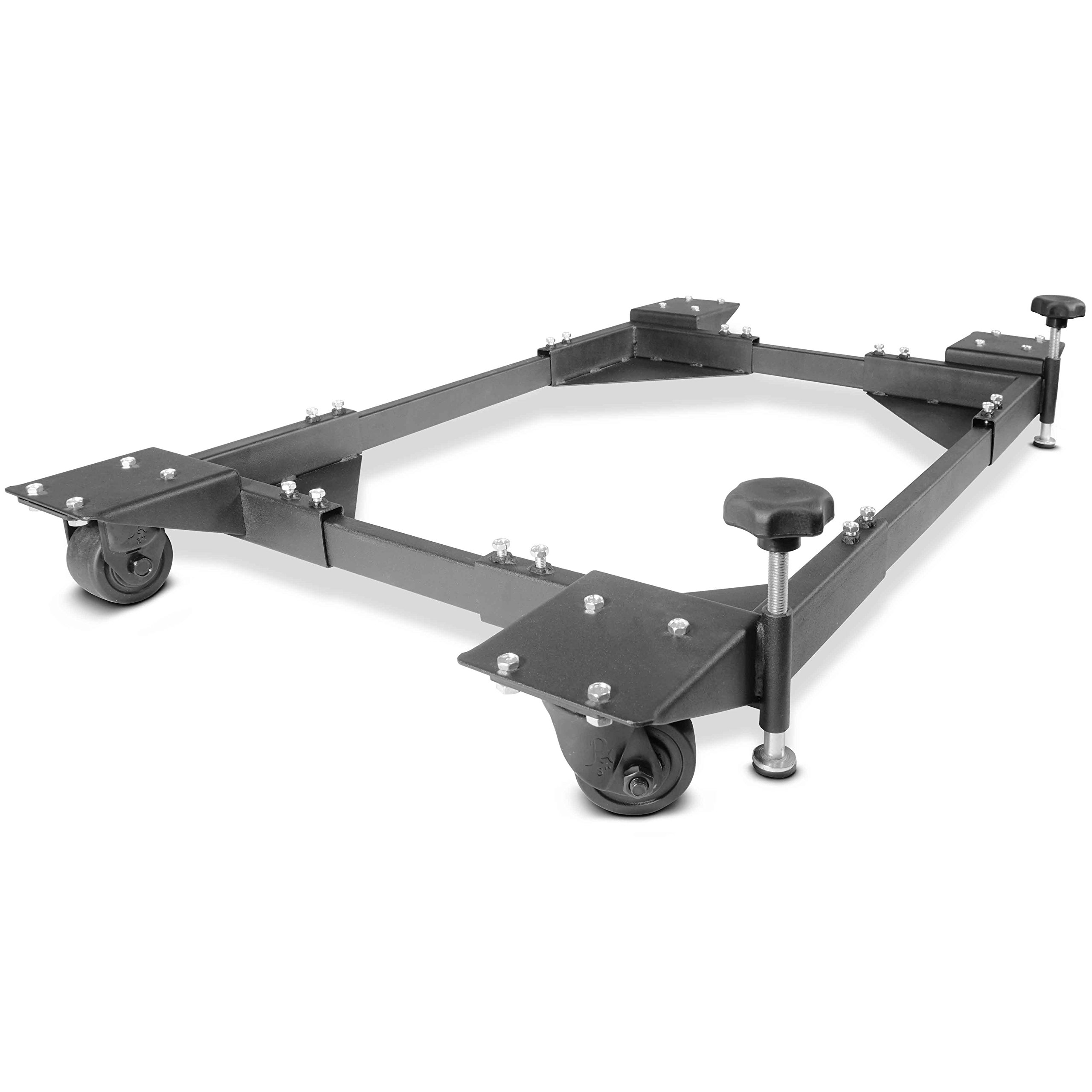 Titan Adjustable Mobile Base Dolly 1200 lb Capacity HD Universal Power Tools - Make Your Workshop Portable & Easy To Use
