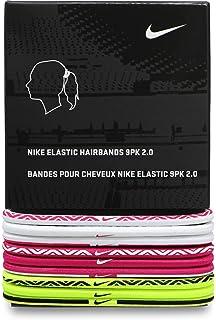 Nike - Elastico per Capelli - Confezione da 3 Fascia Rosa e Nero e ... 1c4da46451b6