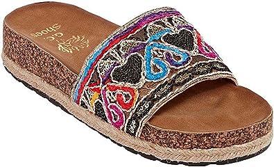 e827e7b23410 Gc Shoes Women s Bohemia Strap Footbed Slide Sandal (7 B(M) US