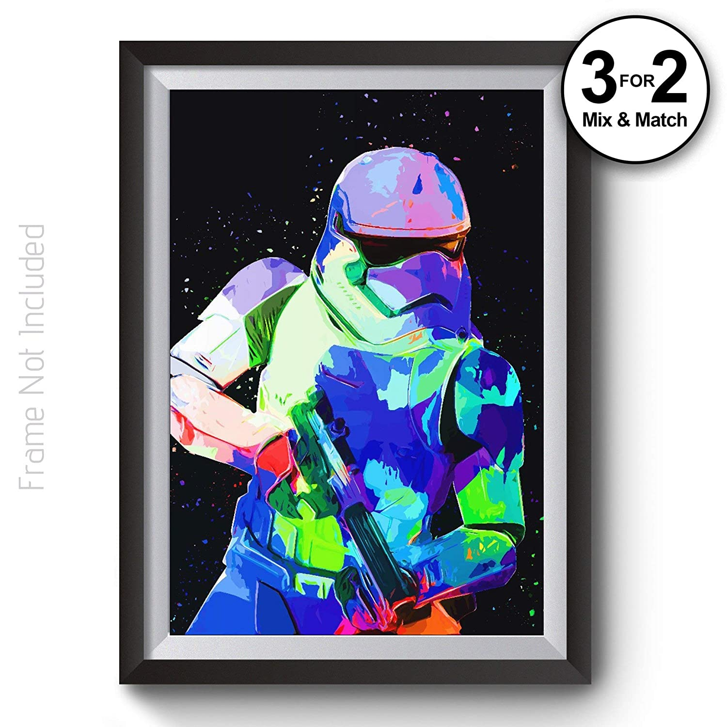 Stormtrooper Poster Movie Posters in Giclee Quality Abstract Star Wars Wall Art Print