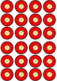 24 The Flash Edible PREMIUM THICKNESS SWEETENED VANILLA, Wafer Rice Paper Cupcake Toppers/Decorations