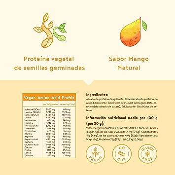 Proteina Vegana | MANGO | Proteína vegetal de arroz ...