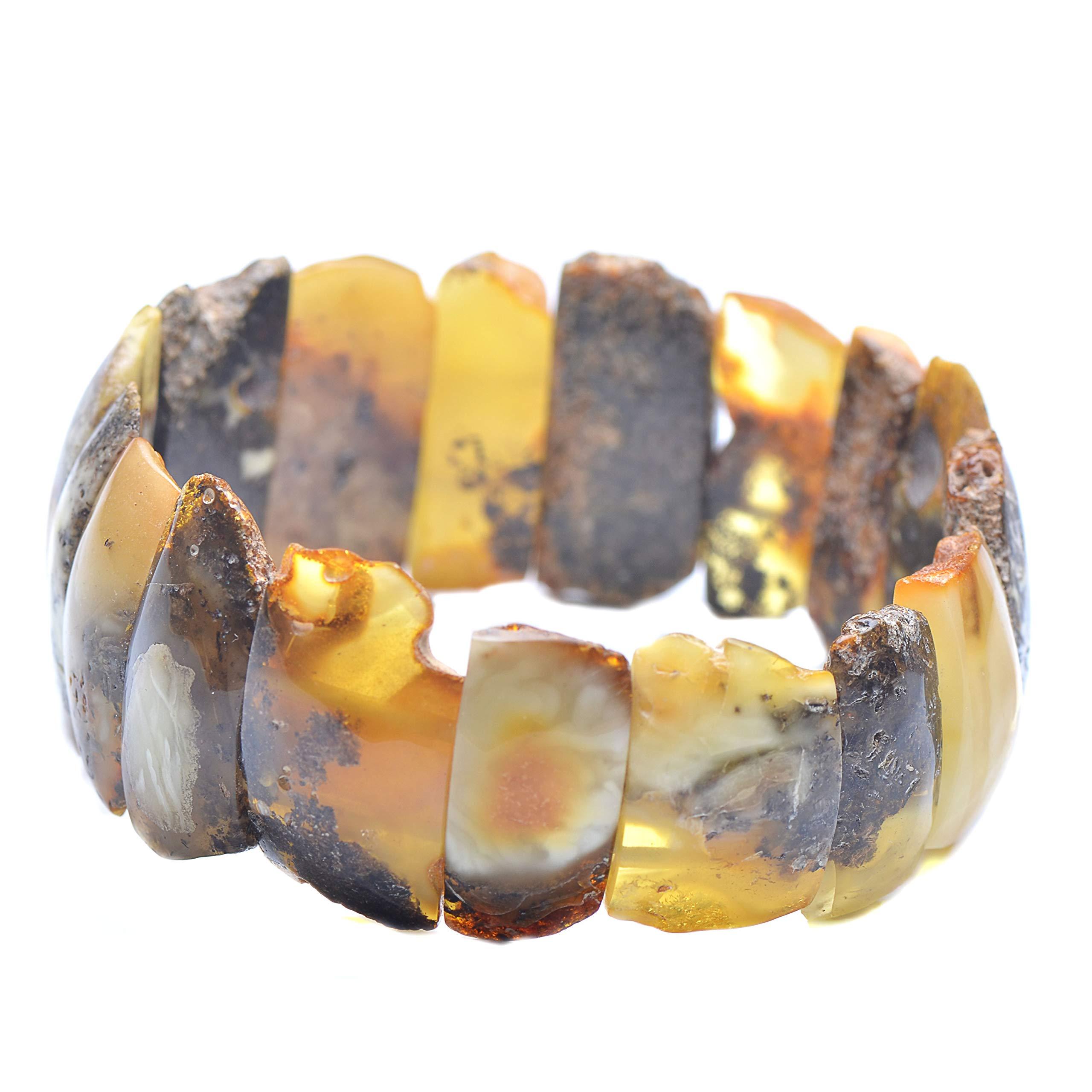 Colorful Amber Bracelet - Vintage Bracelet - Amber Bracelet - Vintage Amber Bracelet - Baltic Amber Bracelet by Genuine Amber (Image #2)