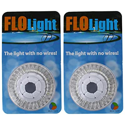 2) LED Swimming Above Inground Pool Flo Lights Wireless Universal Return - Pair : Garden & Outdoor