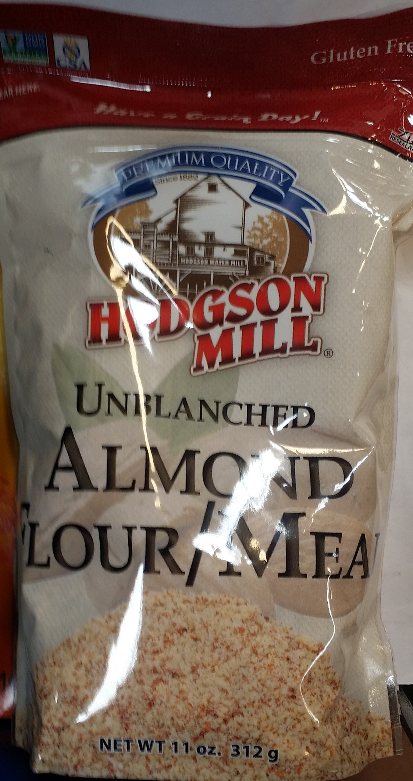 Hodgson Mill Unblanched Almond Flour/Meal 11 oz (Pack of 2)