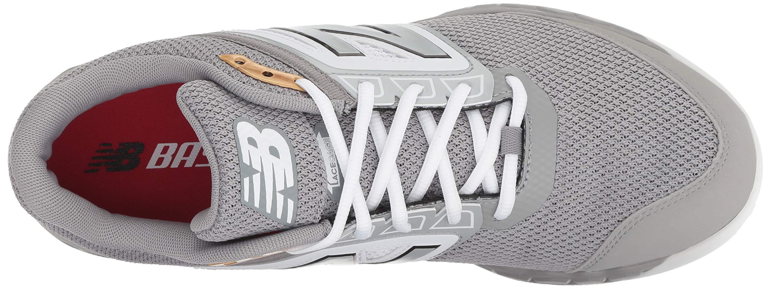 New Balance Men's 3000v4 Turf Baseball Shoe, Grey/White, 5 D US by New Balance (Image #7)