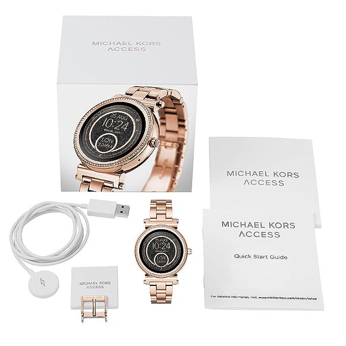 fd0b15eb6bac Michael Kors Femme Digital Montre avec Bracelet en Acier Inoxydable  MKT5022  Amazon.fr  Montres