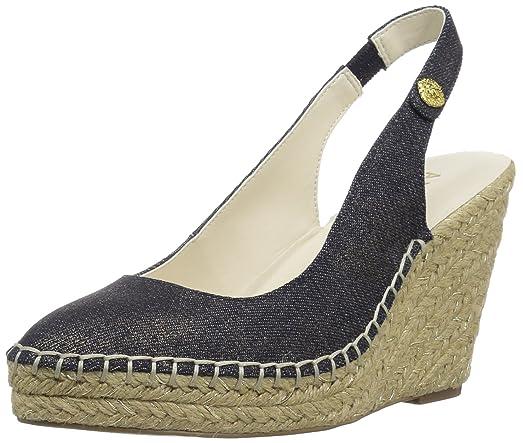 Anne Klein Women's Varya Fabric Espadrille Wedge Sandal