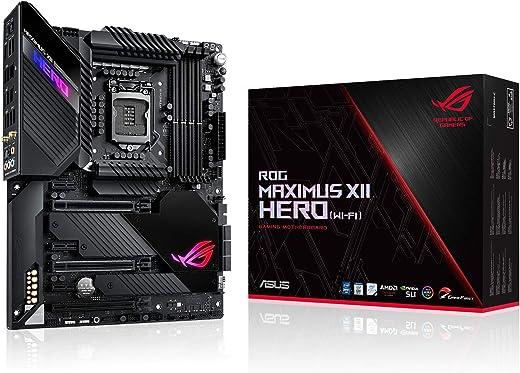 ASUS ROG Maximus XII Hero Z490 (WiFi 6) LGA 1200 (Intel® 10th Gen) ATX Gaming Motherboard (14+2 power stages, DDR4 4800+, 5Gbps LAN, Intel® LAN, Bluetooth v5.1, Triple M.2, Aura Sync)