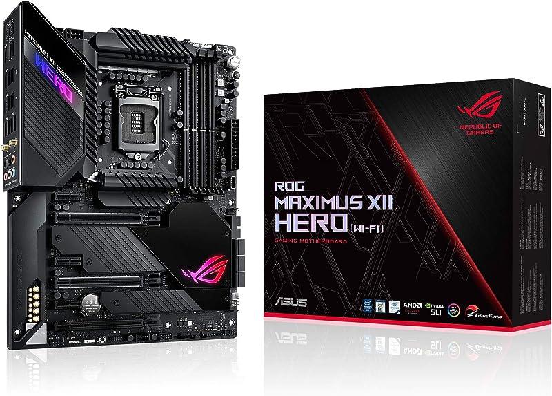 ASUS ROG Maximus XII Hero Z490 (WiFi 6) LGA 1200 (Intel 10th Gen) ATX Gaming Motherboard (14+2 Power Stages, DDR4 4800+, 5Gbps LAN, Intel LAN, Bluetooth v5