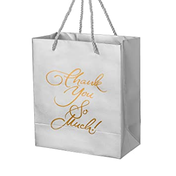 Amazon.com: Crisky Thank You Gift Bags Birthday & Wedding Party ...