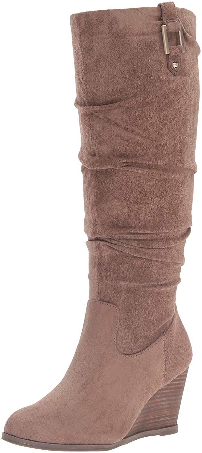 Dr. Scholl's Women's Poe Slouch Boot B01DF0BRVC 9 B(M) US|Stucco Microsuede