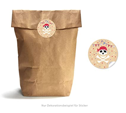 Set de 24 bolsas de papel de estraza marrón 17 x 26 cm + 24 ...