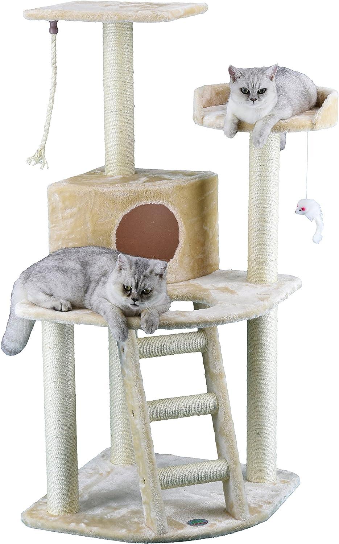 Amazon.com: Go Pet Club árbol para gatos, casa tipo ...