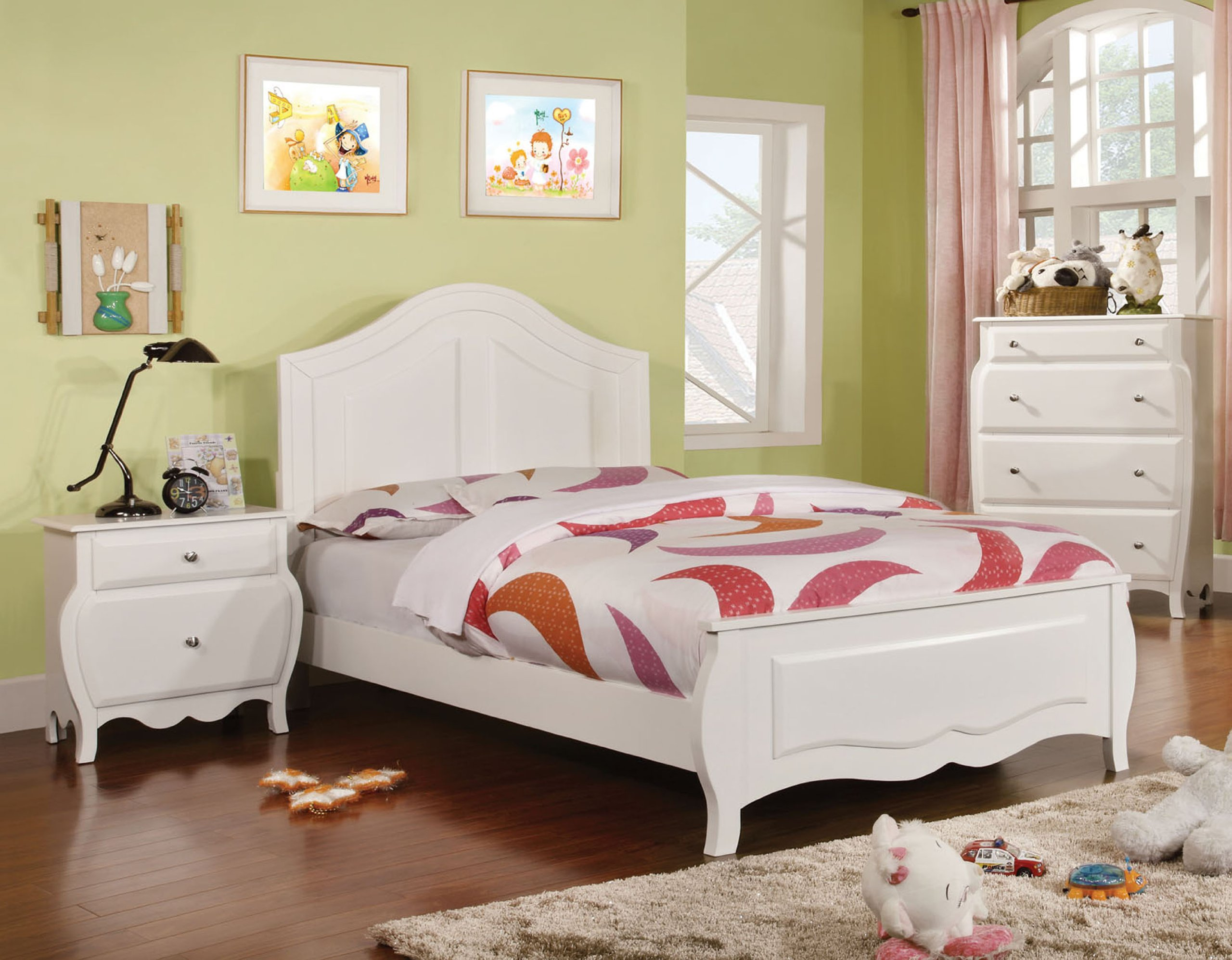 Furniture of America Lionel Size Youth Bedroom, Twin, White by Furniture of America