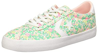 Converse Womens Breakpoint Floral Low Top Menta/ Vapor Pink/ White Sneaker - 9