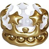 NPW Gonfiabile Corona Foto Booth Selfie Prop – Queen per Il Giorno, Fancy Dress, Colore Gold, Taglia Unica W13641