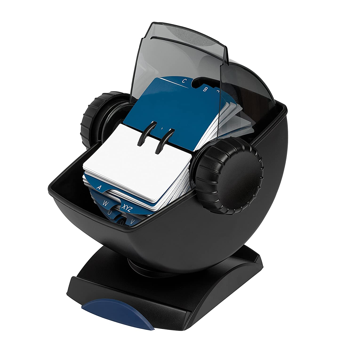rolodex rotary business card file with swivel base