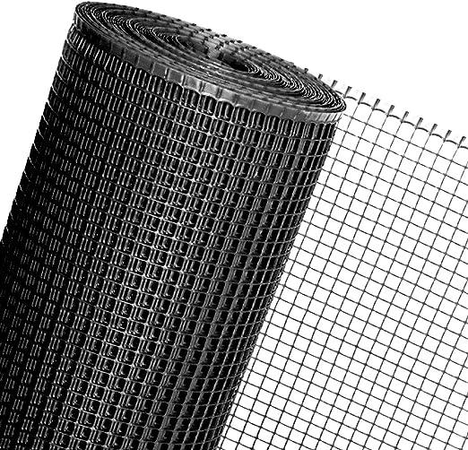 Tela de malla 1,2 m² de 1,2 m de ancho, en plástico negro, para vallas de obras, jardín, celosías, jaulas, gallineros y más: Amazon.es: Jardín