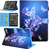 All-New Kindle Fire HD 8 Tablet Case, Fire HD 8 Plus Tablet Case, Fire HD 8 10th Generation 2020 Case, Alugs Leather Smart St