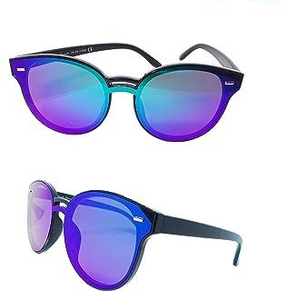 ICU collection Lunettes de soleil polarisées 100% UV400 Lunettes de sport de plein air avec verres colorés (Noir/Rose)