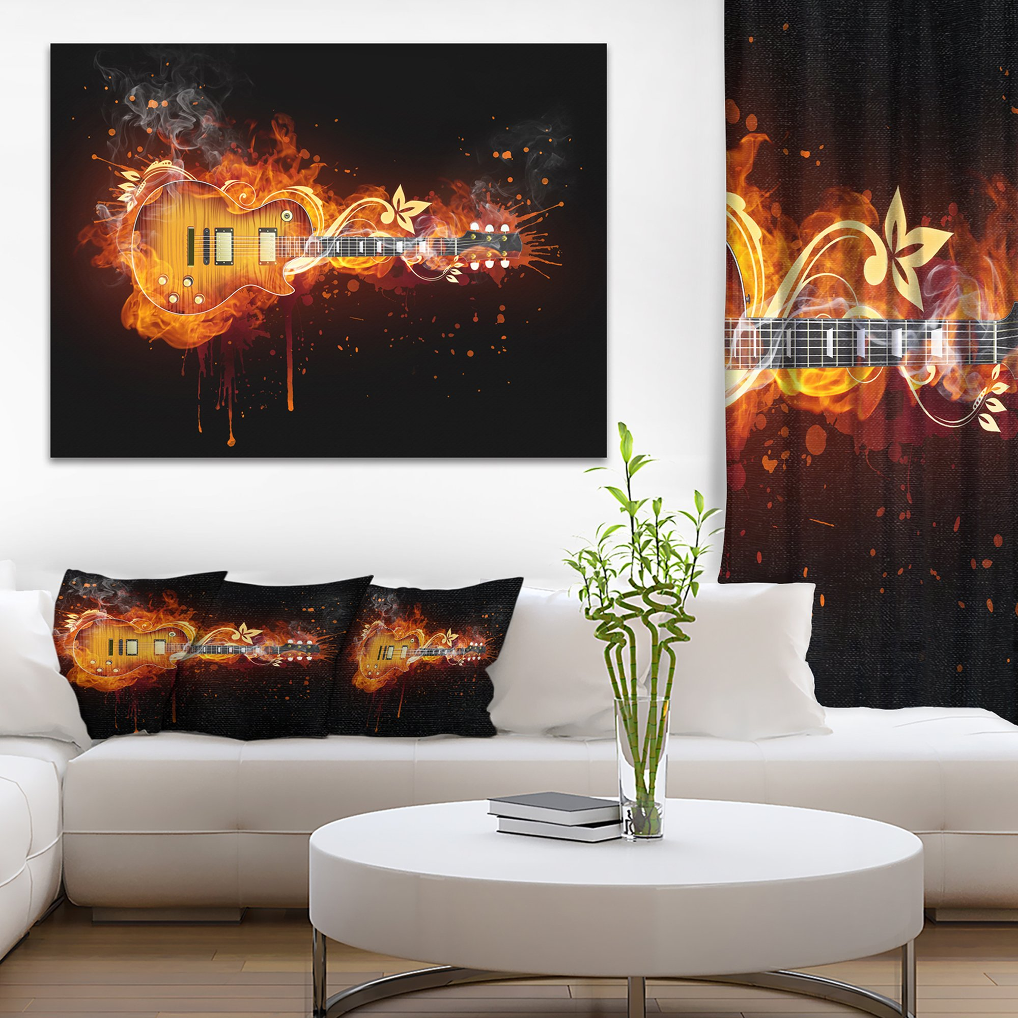 Electric Guitar Abstract Canvas art print by Design Art