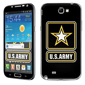 Samsung [Galaxy Note 2] Skin [NakedShield] Scratch Guard Vinyl Skin Decal [Full Body Edge] [Matching WallPaper] - [Army] for Samsung Galaxy [Note 2]