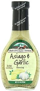 Maple Grove Farms Organic Salad Dressing, Garlic, 8 Ounce (Pack of 12)