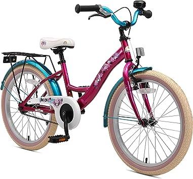 BIKESTAR Bicicleta para niños con sidestand y Accesorios para niños de 6 años | 20 Pulgadas Classic Edition | Berry & Turquoise: Amazon.es: Juguetes y juegos