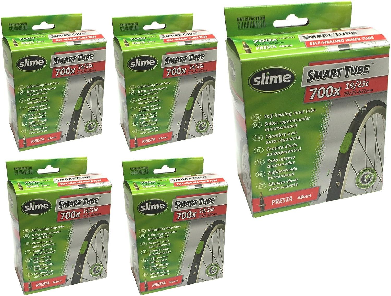 Slime Smart Tube 700 x 19//25c with Presta 48mm valve