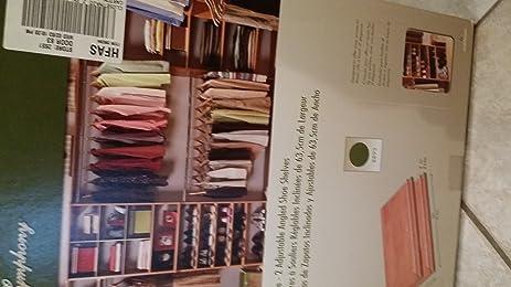ClosetMaid Alder Suite Symphony 25u0026quot; Wide   2 Adjustible Angled Shoe  Shelves