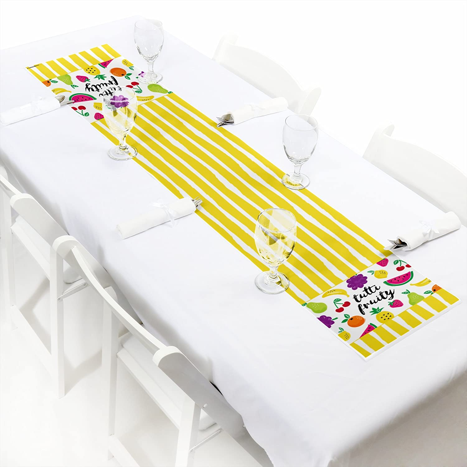 Big Dot of Happiness Tutti Fruity Petite Frutti Summer Baby Shower Birthday Party Paper Table Runner 12 x 60
