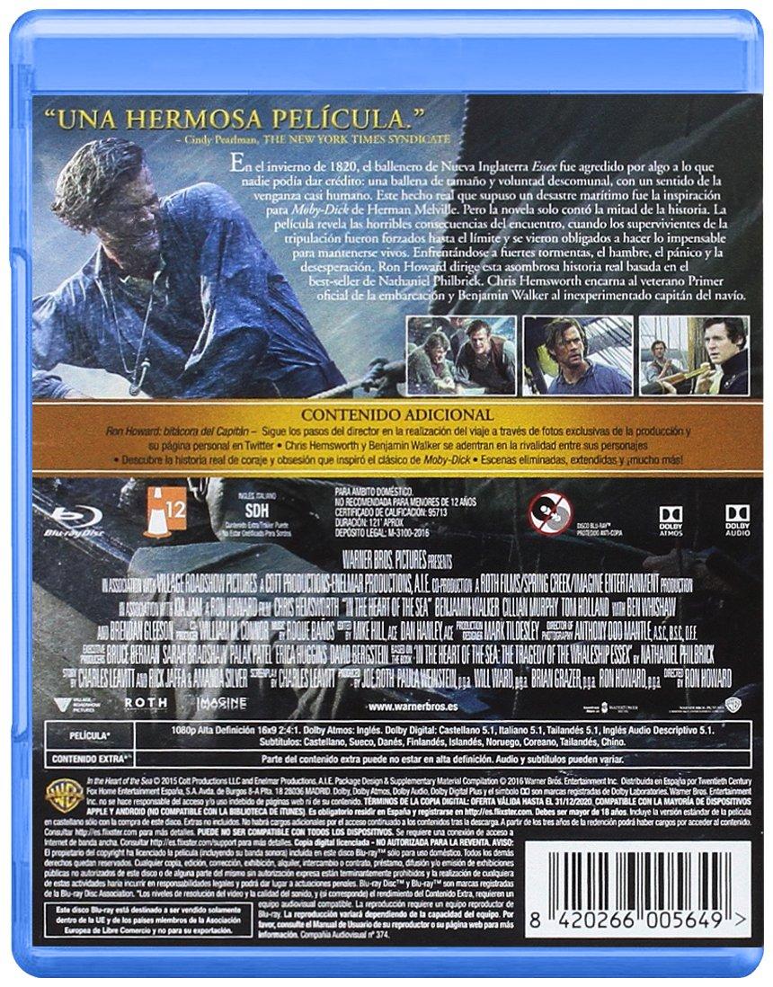 En El Corazón Del Mar Blu-Ray [Blu-ray]: Amazon.es: Chris ...
