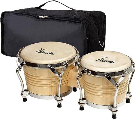 Set de XDrum Bongo Pro Natural (incl. funda de bongos): Amazon.es: Instrumentos musicales