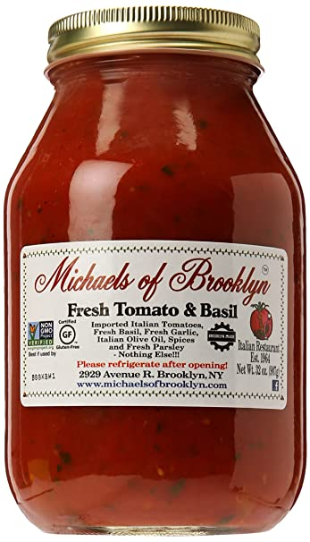 Amazon Com Michaels Of Brooklyn Tomato Basil Sauce 32 Oz