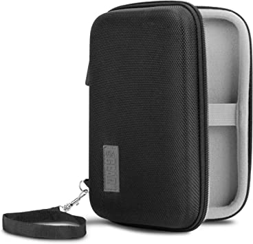 Accessory Organizer and More USA Gear Travel Electronics Organizer 6.5 Inch Zipper Case with Hard Shell Case Exterior and Accessory Storage Pocket Charger Organizer Cable Travel Organizer