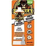 Gorilla 100 Percent Silicone Sealant Caulk, 2.8 ounce Squeeze Tube, White, (Pack of 1)