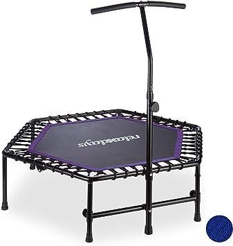 Ø 102cm bis 150KG Indoor Minitrampolin Faltbar Fitness Trampolin mit Haltegriff