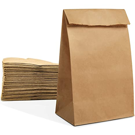 Amazon.com: 100 bolsas de papel de gran tamaño, 4.7 x 2.8 x ...
