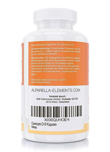 Coenzima Q10 en Cápsulas - 120 unidades de 200 mg - dosis larga duración - hechas en Alemania | más energía resistencia y juventud, piel sana | ayuda a la ...