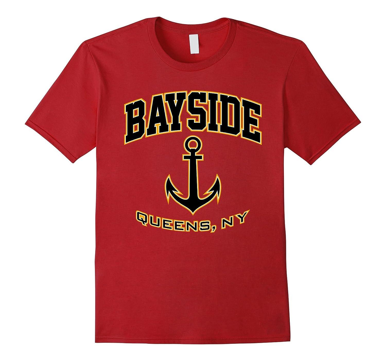 Bayside, Queens, NY T-Shirt (Black/Gold)-FL