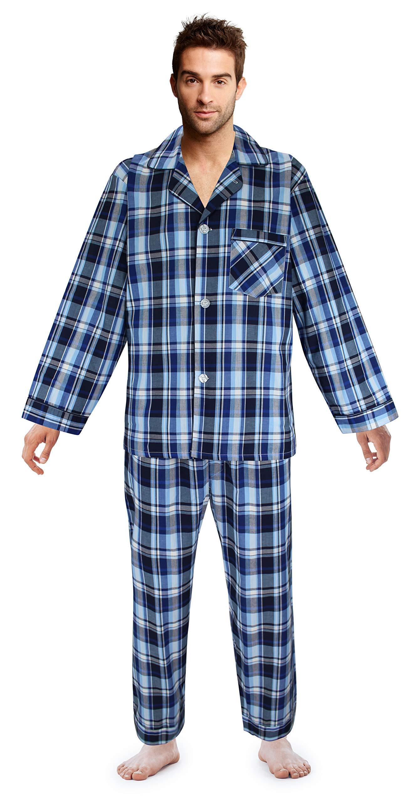 Casual Trends Men's Pajama Set Broadcloth Pajamas for Men, Large